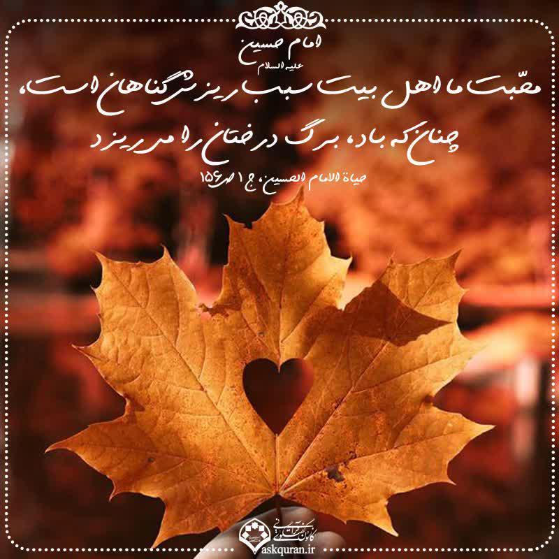 محبت اهل بیت سبب ریزش گناهان است